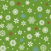 Seamless Pattern With Many Snowflakes