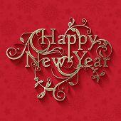 Decorative typographic New Year design