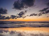 Sea sunrise in Koh Samui island, Thailand.