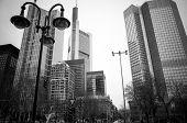 FRANKFURT, HESSE-February 12 : Frankfurt am Main.Frankfurt is the largest city in the German state of Hesse and the fifth-largest city in Germany,February 12,2014 in Frankfurt, Germany.