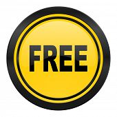 free icon, yellow logo,