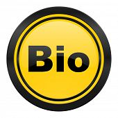 bio icon, yellow logo,