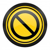 access denied icon, yellow logo,