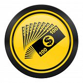money icon, yellow logo, cash symbol