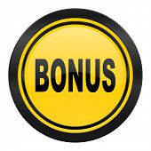 bonus icon, yellow logo,