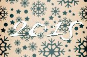2015 against snowflake pattern