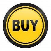buy icon, yellow logo,