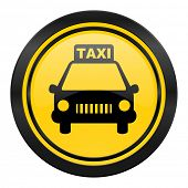 taxi icon, yellow logo,