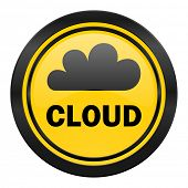 cloud icon, yellow logo,