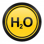 water icon, yellow logo, h2o sign