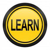 learn icon, yellow logo,