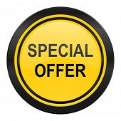 special offer icon, yellow logo,