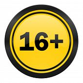 adults icon, yellow logo,