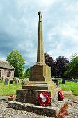 Stone Cross in churchyard, Weobley.