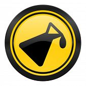 chemistry icon, yellow logo,