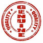 Genuine-stamp