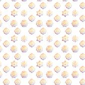 Vector snowflakes. Christmas and new year design pattern.
