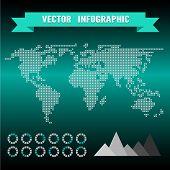 Vector infographics set. World Map