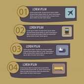 Flat abstract logistic infographic template