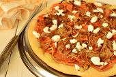 Pizza with pumpkin