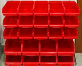 Parts Rack Red