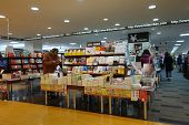 Customers Shop For Books In Hiroshima Shopping Center