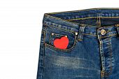 Blue Jeans With Heart Shape