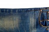 Blue Jeans Isolated On White Backgrund