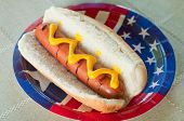 patriotische Hot-dog