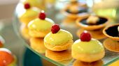 image of buffet  - colourful pretty dessert buffet afternoon high tea - JPG