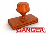 Rubber Stamp Danger (clipping path included)