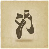 ballet dance studio symbol old background