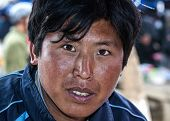 Closeup Of A Young Hmong Man.