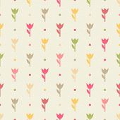 Retro Seamless Flower Pattern.