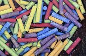 macro of lots of chalk