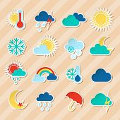 Weather stickers set