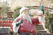 santa claus decorative keeping bell