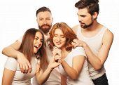 stock photo of karaoke  - People - JPG