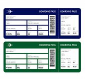 foto of boarding pass  - Airline boarding pass ticket for traveling by plane - JPG