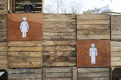 pic of female toilet  - male and female toilet directions sign for outdoor public toilets - JPG