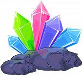 picture of quartz  - Illustration of a multi colored quartz crystal - JPG