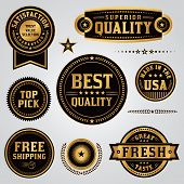 Quality Assurance Labels And Badges Set poster