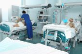image of medical staff  - Hospital with patients and medical staff care - JPG