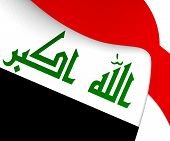pic of iraq  - 3D Flag of the Iraq - JPG