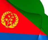 picture of eritrea  - 3D Flag of the Eritrea - JPG
