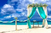 image of gazebo  - beach wedding venue - JPG