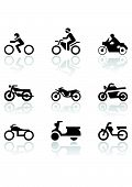 image of road sign  - Vector set of different motorbike symbols - JPG