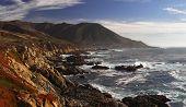 pic of bixby  - Coast of Pacific ocean in California panoramic view - JPG