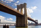 Ponte de Brooklyn, do lado de Manhattan