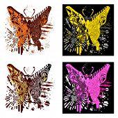 T-shirt design butterfly_Tekhno- gold glamur- emo- classic
